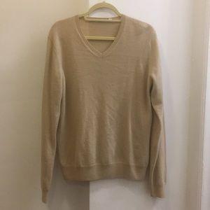 Uniqlo 100% beige cashmere sweater